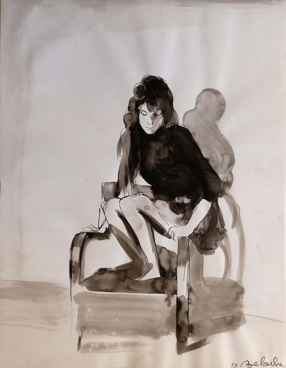 Equilibrium, ink on paper 65x50 cm - Image 0