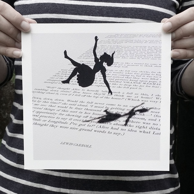 Down the Rabbit-Hole (Monoprint) - Image 0