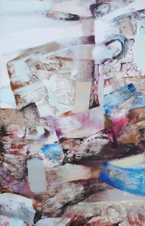 Original oil painting signed on canvas abstract handmade wall art medium Kulish - Image 0