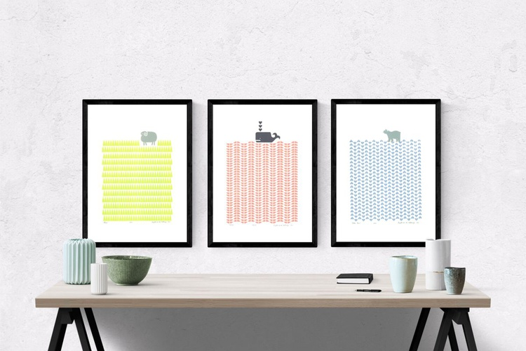 3 x A3 size FRAMED print bundle -SAVE 15% FREE UK Delivery - Image 0