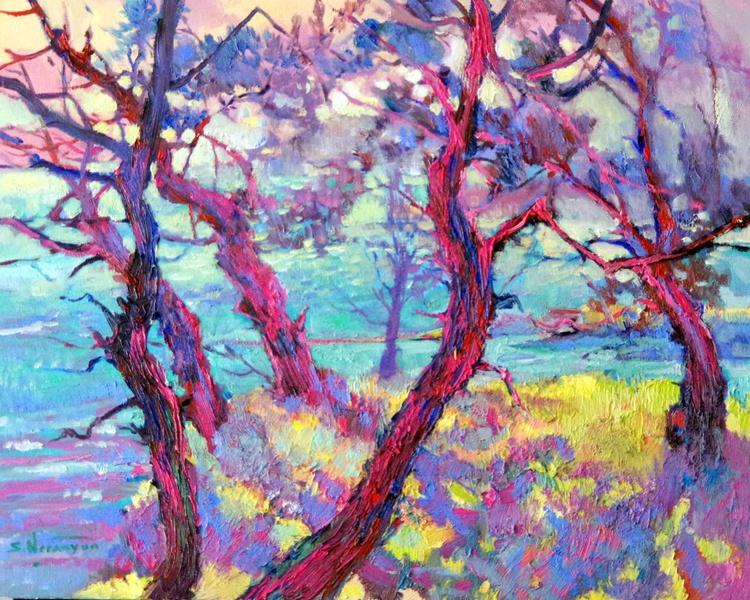 Pine Trees, Evening (pink Shadows) - Image 0
