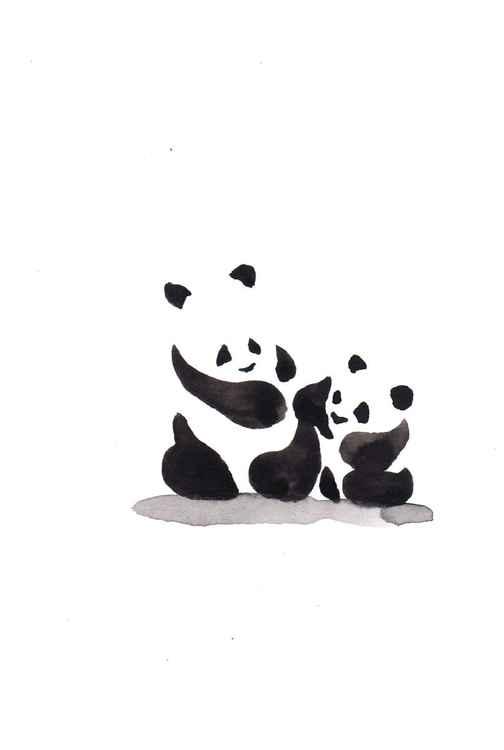Panda and a cub 1015C