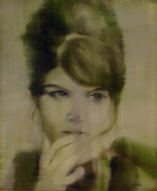 Lust - Photo Realistic Portrait Original One of a Kind Oil Painting - Image 0