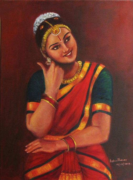 Yasoda, the mother of Krishna amused by his baby pranks-Bharathanatayam dancer - Image 0