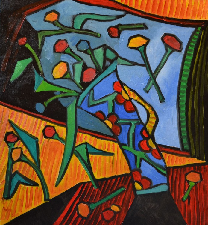 INSPIRED BY PICASSO-DYNAMIC FLOWERS - Image 0