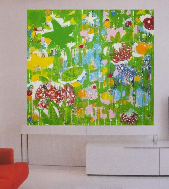 "Original abstract ""Unawatuna Beach"" large original painting - Image 0"