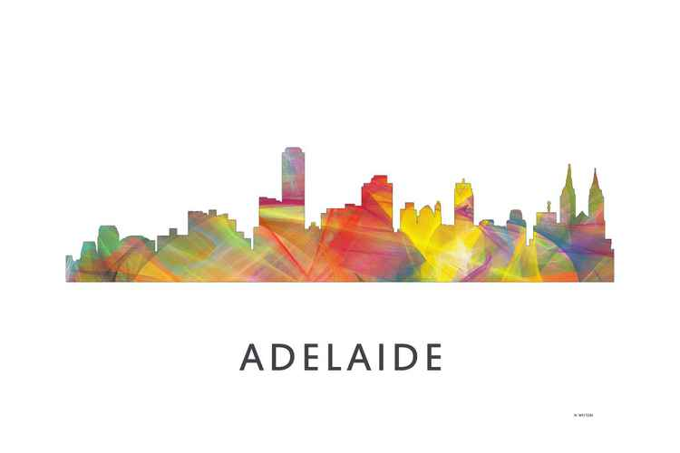 Adelaide South Australia Skyline WB1 -