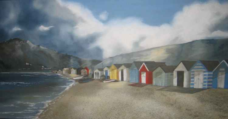 Beach Huts at Budleigh -