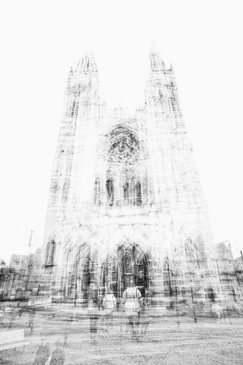 Truro cathedral multiple exposure in black and white - Image 0