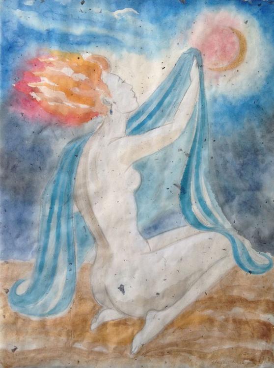 Pale Woman, Blood Moon - Image 0