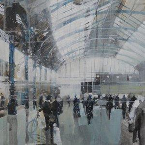 Brighton Station, mid morning 3 Jan  by Julian Sutherland-Beatson