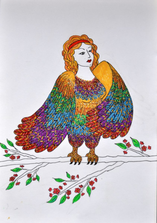 Woman-bird - Image 0