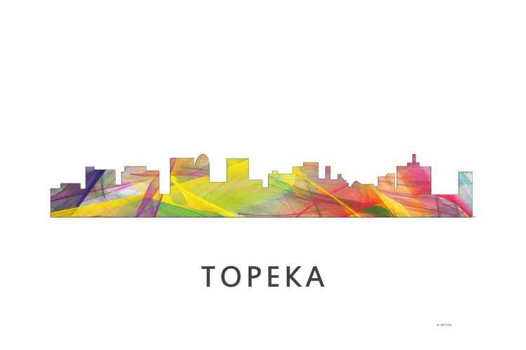 Topeka Kansas Skyline WB1 -