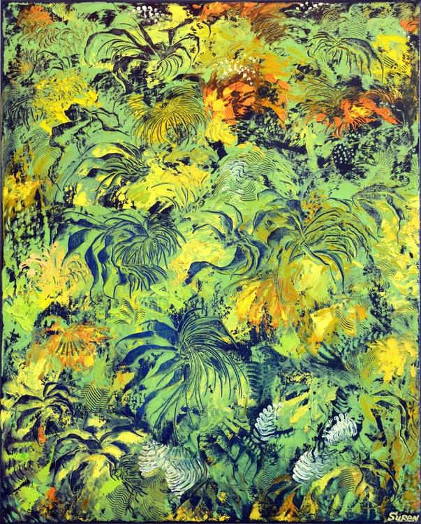 Green Motif 41x51 cm - Image 0