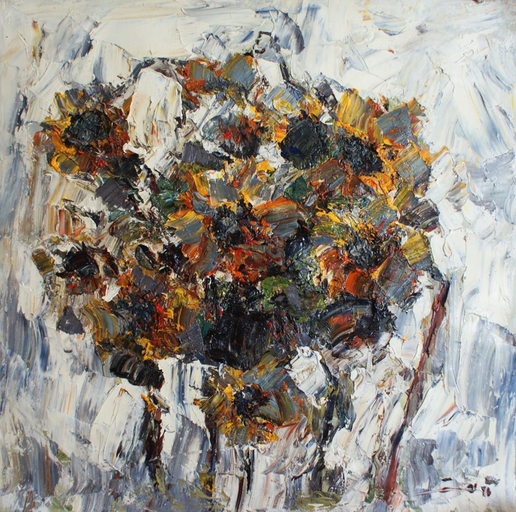 """""""Abstraction No. 45 , Sunflower.""""   FREE SHIPPING - Image 0"""