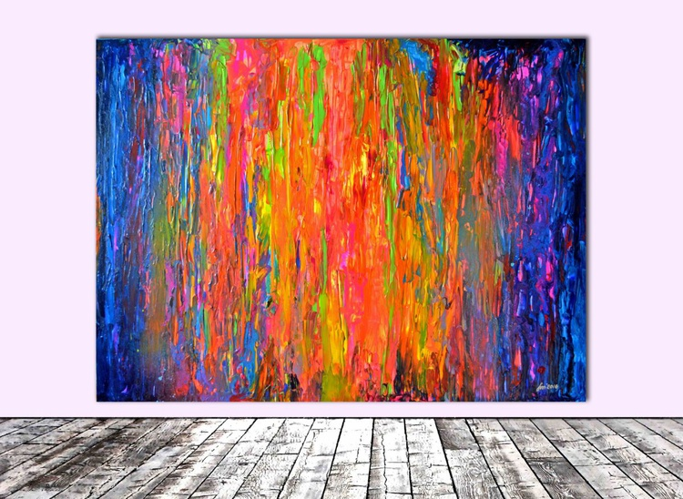 Gypsy Girl in the Forest - 160x120 cm - XXXL Large Modern Abstract Big Painting, Ready to Hang, Hotel and Restaurant Wall Decoration - Image 0