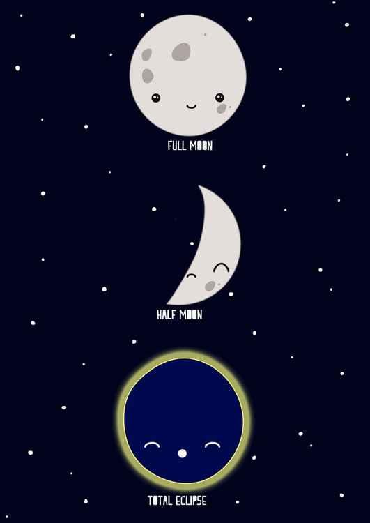 A4 Full Moon Print -