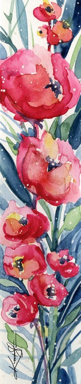 Itsy Bitsy Blossoms 4 - Original Tiny Watercolor - Image 0