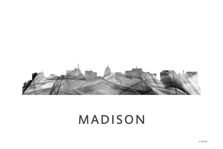 Madison Wisconson Skyline WB BW