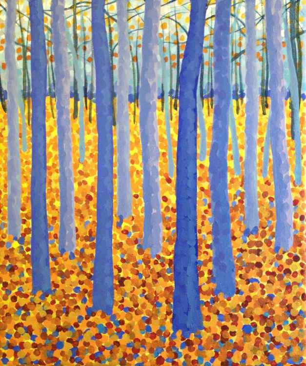Original Painting of 'Autumn Birches' by Kirstin Wood -