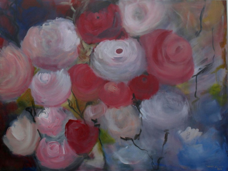 Mom's Garden 4 - Large Abstract Bed of Roses - In memory of our moms - Image 0