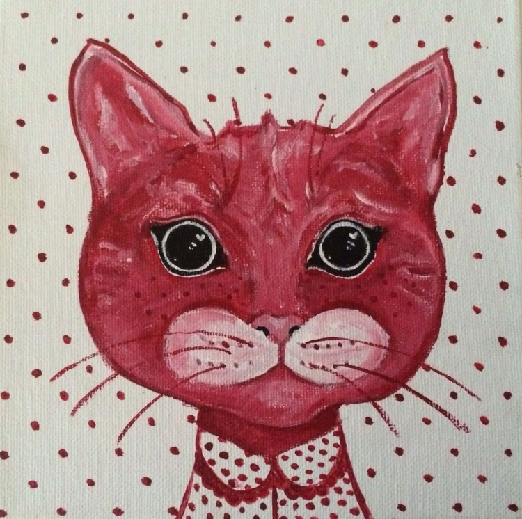 POLKA RED DOT HER CAT UP-DATED - Image 0
