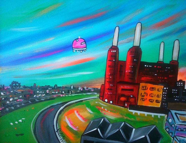 Futuristic Pink Floyd Battersea Power Station - Image 0