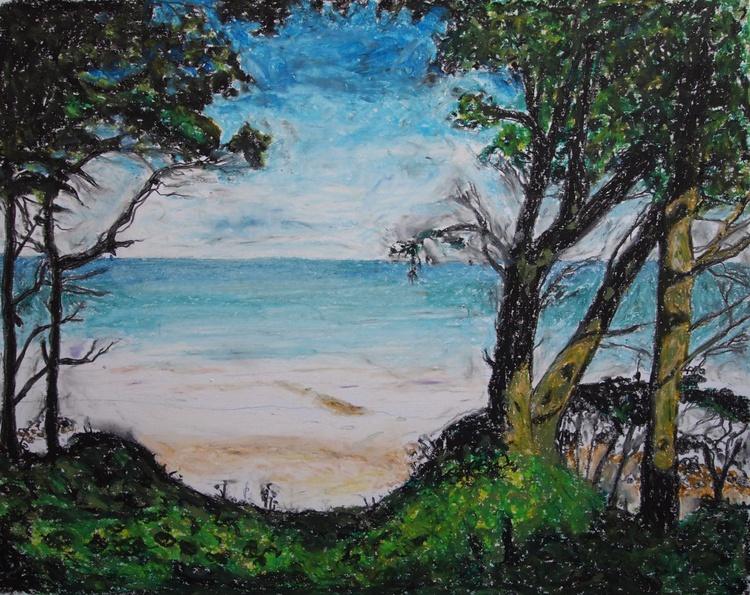 Beach Trees Pastel - Image 0