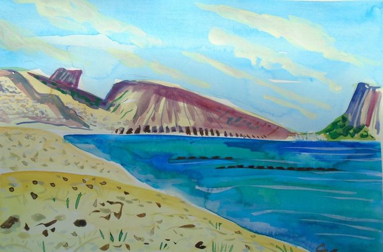 Study for Altea beach looking towards Calpe - Image 0