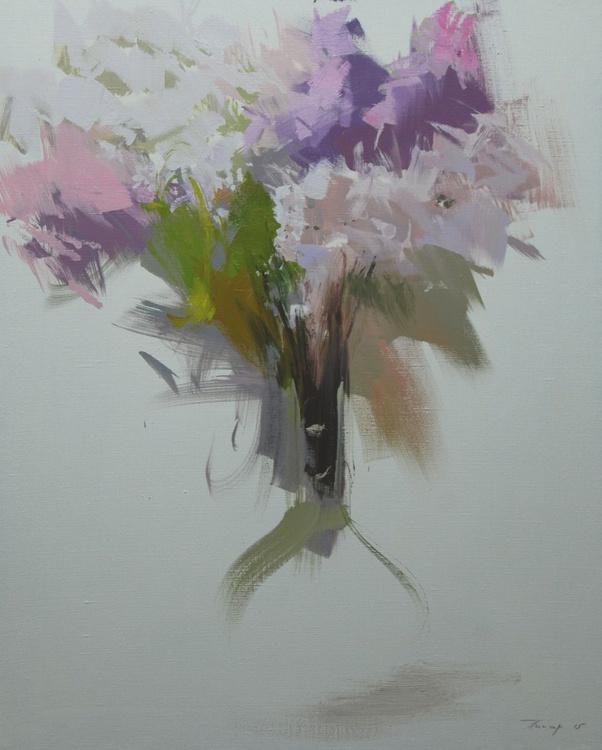 "White flower painting ""Morning"" - Image 0"