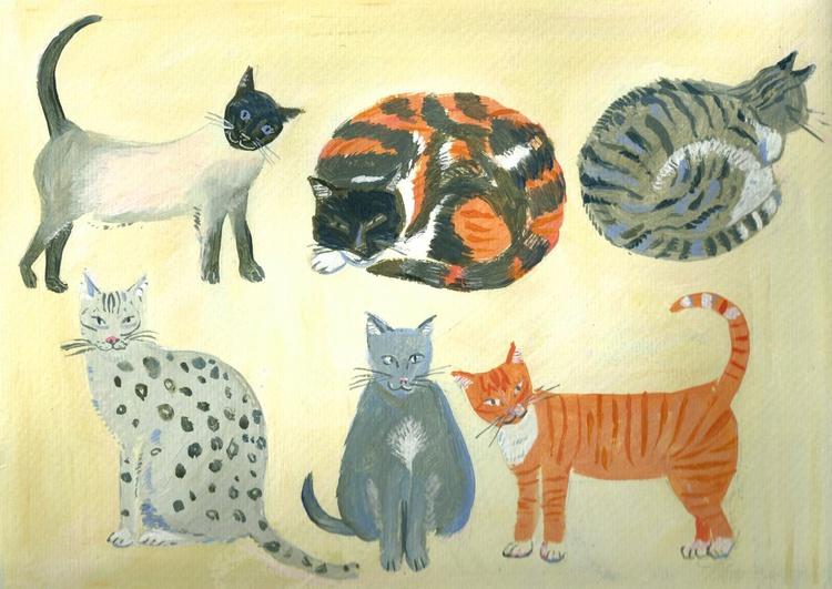 Six Cats - Image 0