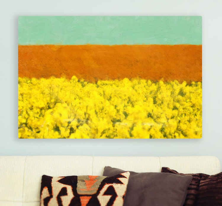 """""""Yellow fields"""" canvas gallery art ready to hang - Image 0"""