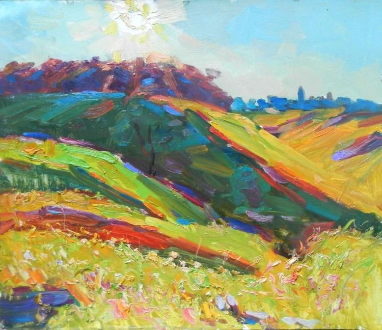 Sunny meadow,  69x59 cm - Image 0