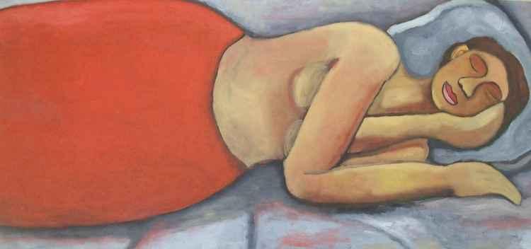 Slapende vrouw    (Cat N° 3943) -