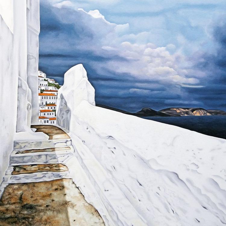 White Wall with Dark Sky - Image 0