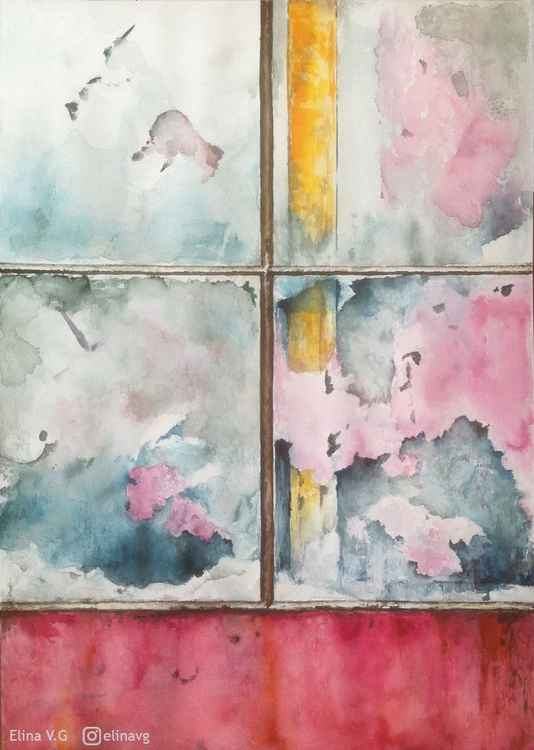 Forgotten windows - Watercolours -