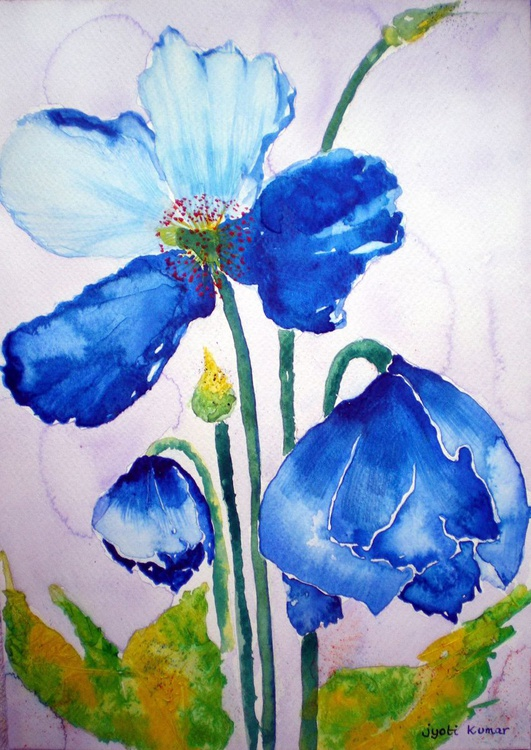 Evas` Blue Poppies - Image 0