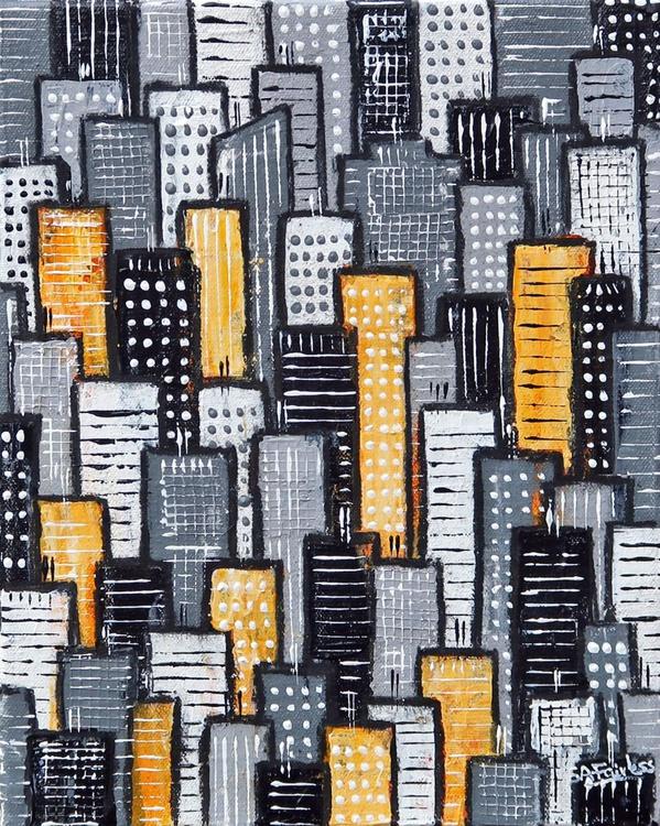 City Block Yellow and Grey - Image 0