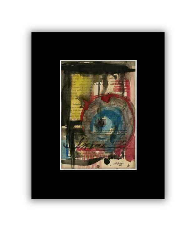 Abstract 5 on Antique Book Page - Abstract Watercolor Painting