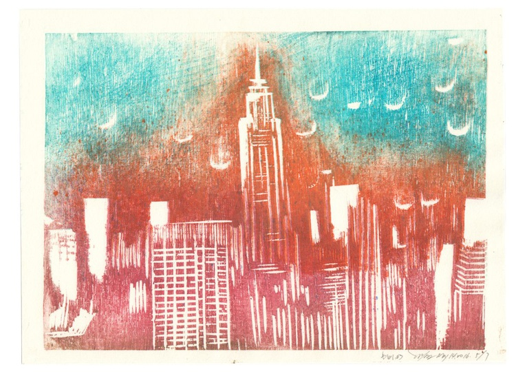 New York Skyline -The gradient teal sky of Big Apple - Image 0