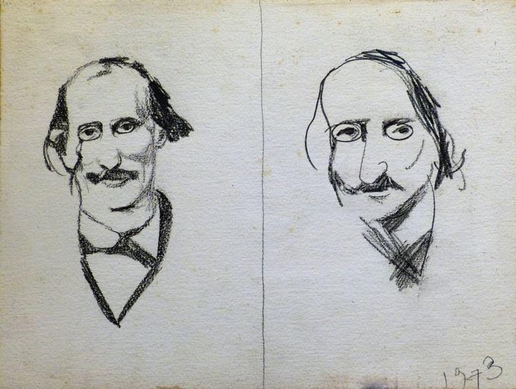 Portrait of Jacques Offenbach, 41x31 cm - Image 0