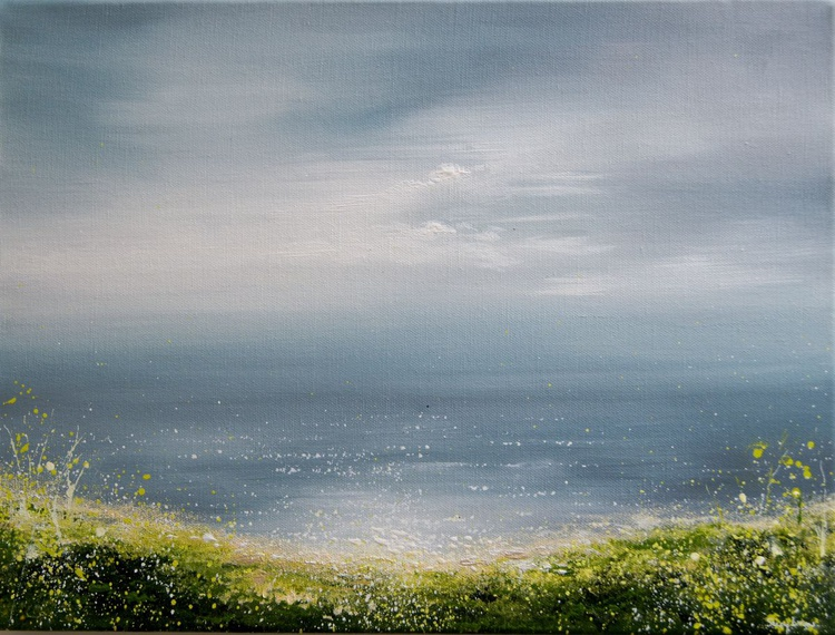 Seascape Painting - Green Path View - Image 0