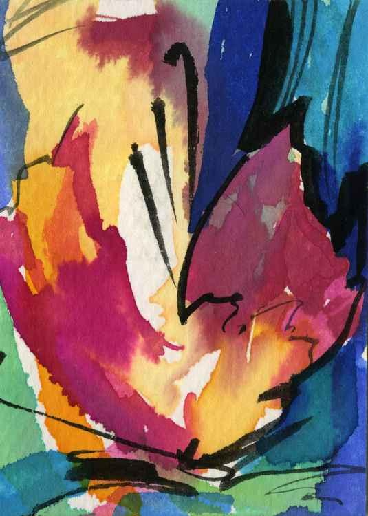 Soul Flower 20 - Watercolor Art -