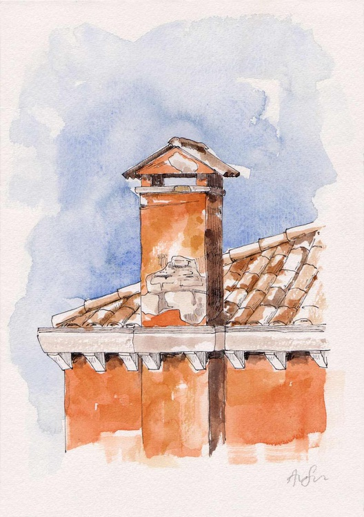 Venetian chimney #08 - Image 0