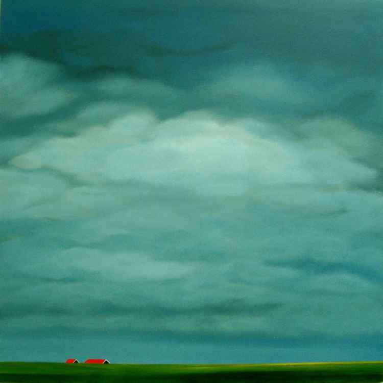 Red roofs, running clouds