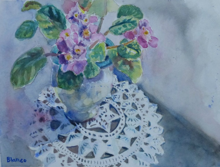 Crochet and Violets - Image 0