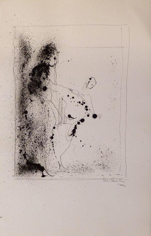 Drip-drawing #2, 32x50 cm - Image 0