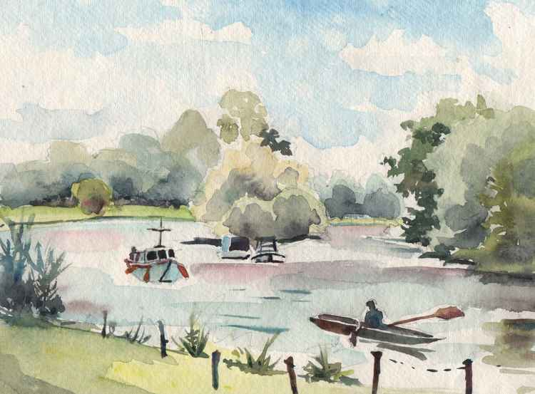 The Thames at Petersham Meadows, Richmond -