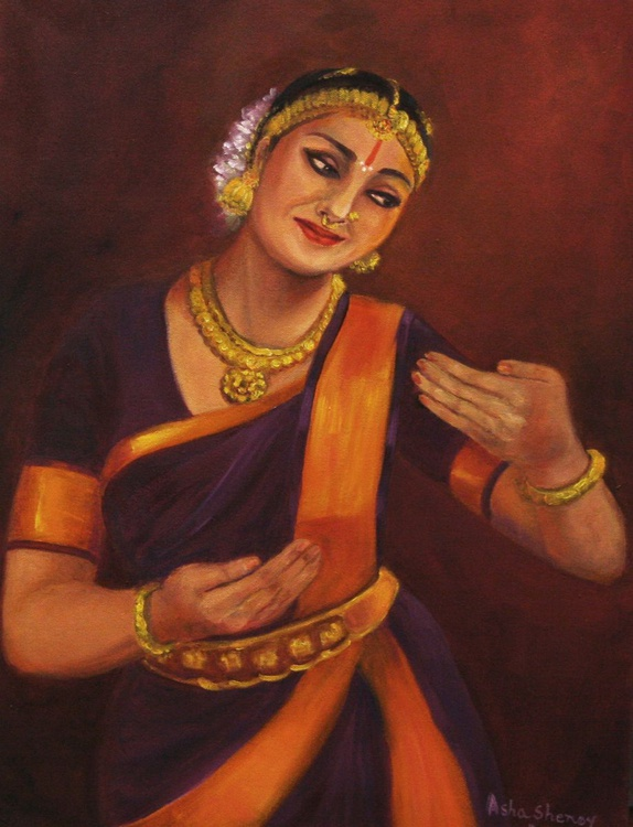 Yasoda, the foster mother of  baby Krishna, with him  in her arms: - Image 0