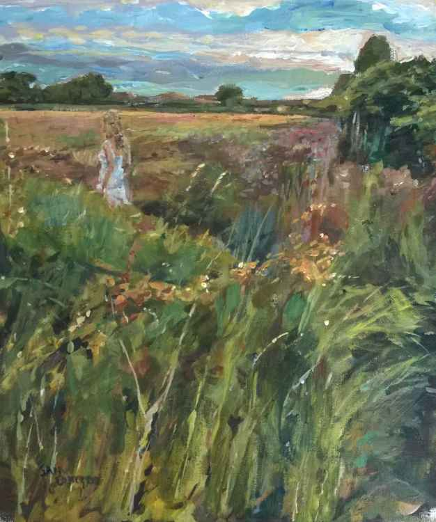 Woman in the Evening Field